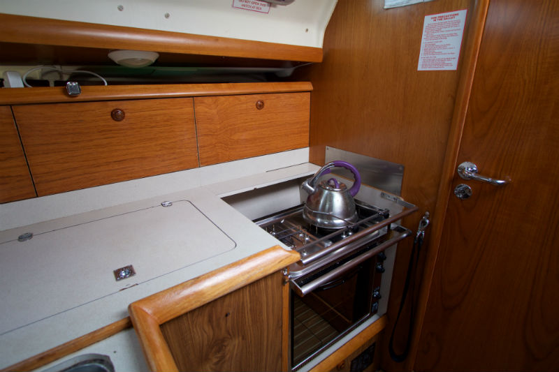 Photo of galley on Nomad 1 Jeanneau Sunfast 37