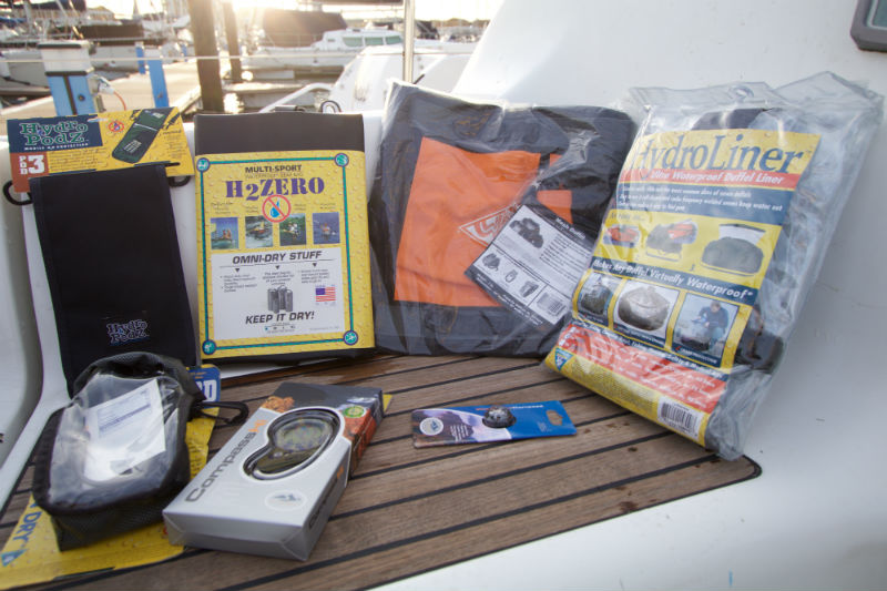 Photo of various sailing accessories