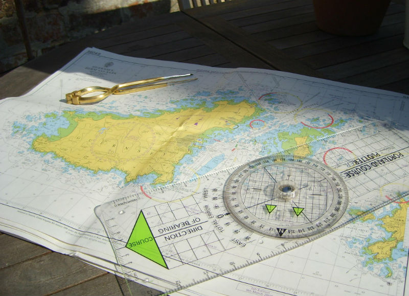Photo of RYA Training Chart plotter and dividers